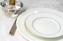 Table Ready for Dining Stock Image