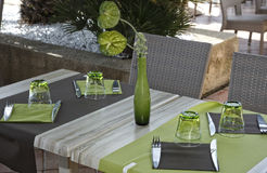 Table ready for dinner Royalty Free Stock Photo