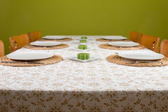Table ready laid Stock Photography