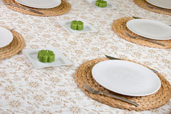 Table ready laid Royalty Free Stock Images