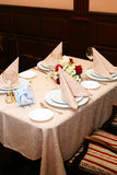 Table ready for people royalty free stock photo