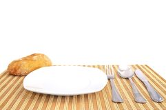 Table ready to eat. Royalty Free Stock Photos