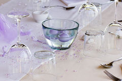Table Ready For The Wedding Feast Royalty Free Stock Photography