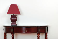 Table with red lamp Royalty Free Stock Image