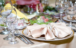 Table at restaurant. Stock Image