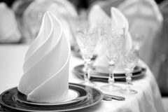 Table at restaurant. Royalty Free Stock Images