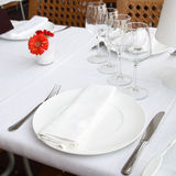 Table at a restaurant Royalty Free Stock Photography