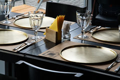 Table at the restaurant Royalty Free Stock Photography