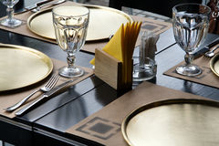 Table at the restaurant. Served table at the restaurant royalty free stock images
