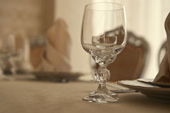 Table at restaurant Royalty Free Stock Photo