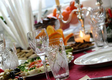 Table in restaurant Royalty Free Stock Photo