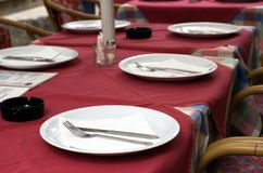 Table in restaurant Royalty Free Stock Photos