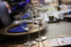 Table at a restaurant stock photos