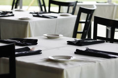 Table. In the restaurant, afternoon Stock Image