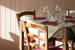 Table Restaurant Four Vacant Available Tuscany Stock Photos