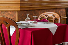Table in restaurant Royalty Free Stock Images