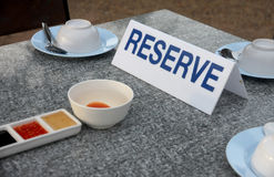 Table of restaurant in the reserve. Royalty Free Stock Photos