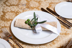 Table in restaurant Stock Image
