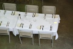 Table at a restaurant Royalty Free Stock Photos