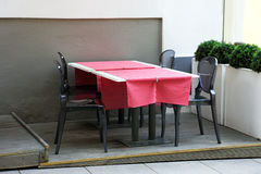 Table in the restaurant Royalty Free Stock Photo
