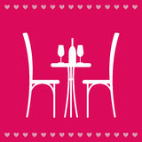 Table in the restaurant for two Royalty Free Stock Photography