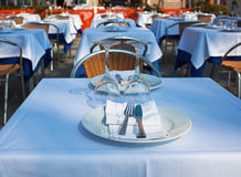 Table in resteaurant Royalty Free Stock Photography