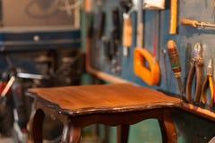 Table in restoration studio Stock Image