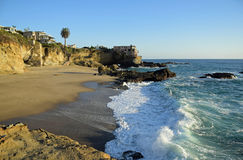 Table Rock Beach in South Laguna Beach,California. Royalty Free Stock Images