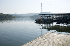 Table Rock Lake. Boat docks at table Rock lake, Kimberling City, Missouri Royalty Free Stock Photo