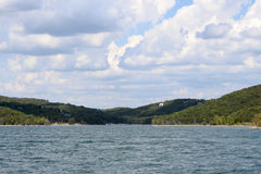 Table Rock Lake Blue Skies Stock Image