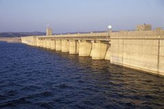 Table Rock Lake Dam in the Ozark Mountains, MO Royalty Free Stock Images