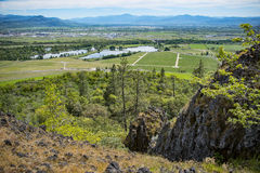 Table Rock, Oregon. View from top of Table Rock upper trail, Oregon Stock Photos
