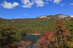 Table Rock State Park. Pinnacle Lake at Table Rock State Park in Pickens, South Carolina in the fall royalty free stock photography