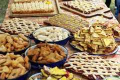 Traditional romanian cakes Royalty Free Stock Images