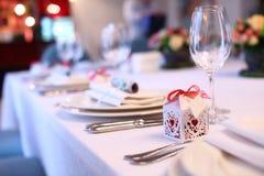 Table romantique Photographie stock