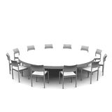 Table ronde Photos stock