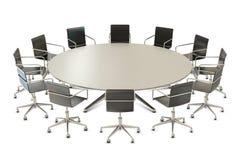 Table ronde avec des présidences Photo stock