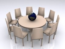 Table ronde d'affaires   illustration stock