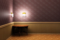 Table in the room 3d Royalty Free Stock Images