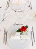 Table with rose Royalty Free Stock Images