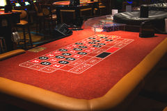 Table roulette in a casino Treasure Island. Las Vegas Royalty Free Stock Image