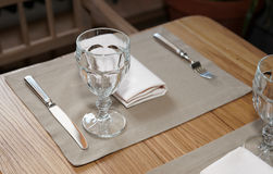 Table in a rustic cuisine restaurant Stock Photography