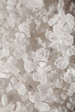 Table salt. Crystals of of table salt in close-up, side lighting Stock Photography