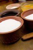 Table salt in ceramic ware Stock Photo