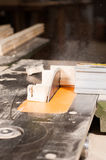 Table saw in action Stock Image