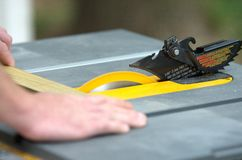 Table sawing. Royalty Free Stock Image