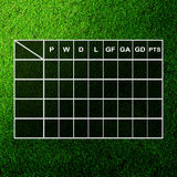 Table Score On Grass Field Stock Images