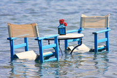 Table in the sea Royalty Free Stock Photos