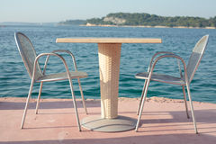 Table by the sea Royalty Free Stock Image