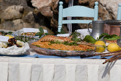 Table by the sea Royalty Free Stock Photo